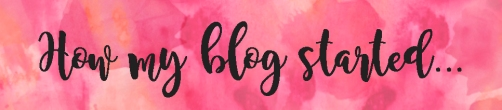 how my blog